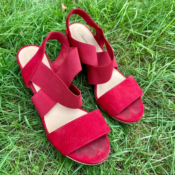 American Eagle Outfitters Shoes - Red wedges by American Eagle